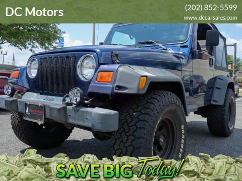 2001 Jeep Wrangler for sale at DC Motors in Springfield VA