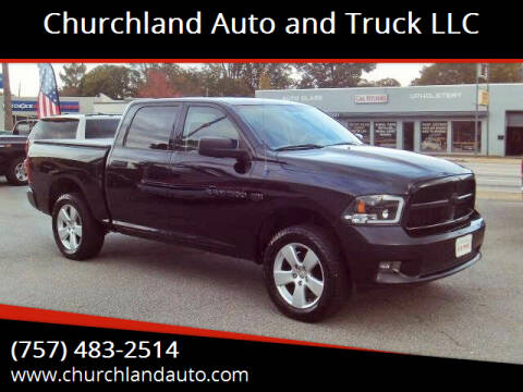 2012 RAM Ram Pickup 1500 for sale at Churchland Auto and Truck LLC in Portsmouth VA