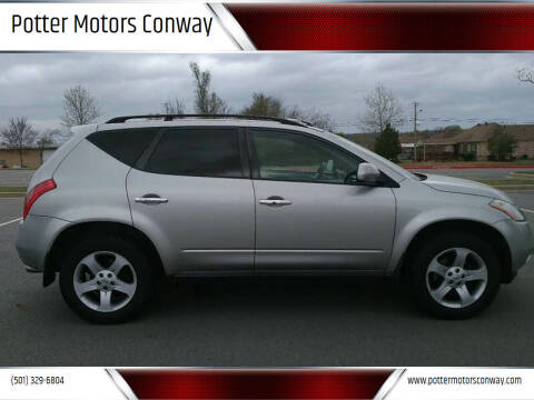 2005 Nissan Murano for sale at Potter Motors Conway in Conway AR