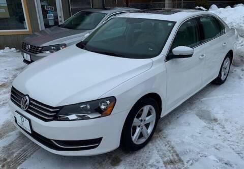 2013 Volkswagen Passat for sale at Past & Present MotorCar in Waterbury Center VT
