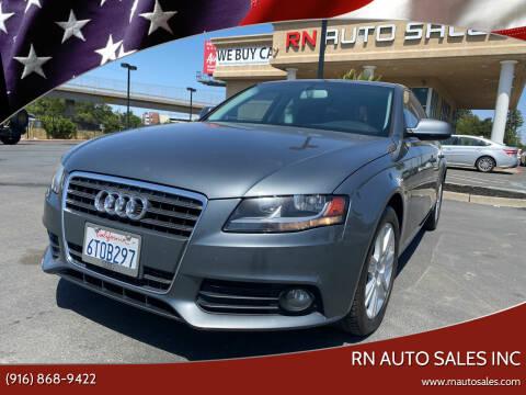 2012 Audi A4 for sale at RN Auto Sales Inc in Sacramento CA