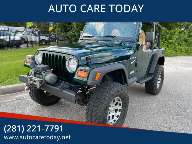 1997 Jeep Wrangler for sale at AUTO CARE TODAY in Spring TX
