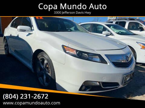 2012 Acura TL for sale at Copa Mundo Auto in Richmond VA