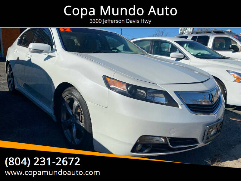 2012 Acura TL for sale at Copa Mundo Auto in Richmond VA