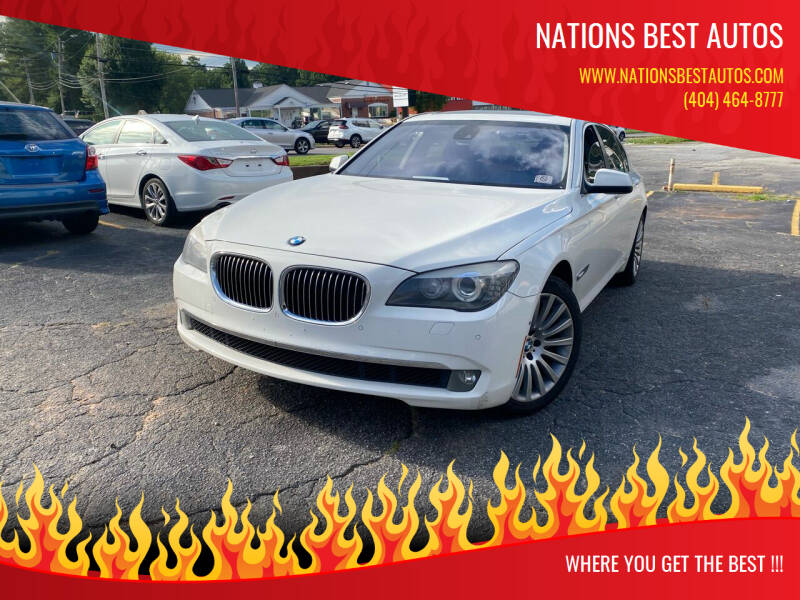 2012 BMW 7 Series for sale at Nations Best Autos in Decatur GA