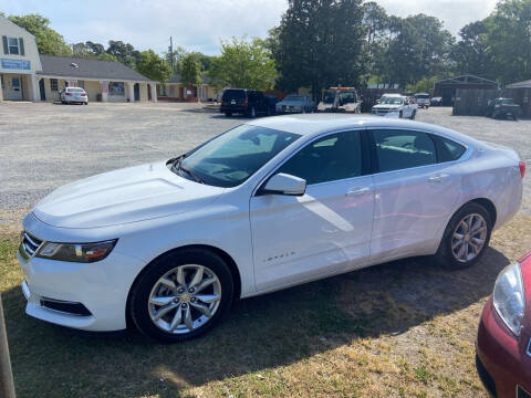2016 Chevrolet Impala for sale at LAURINBURG AUTO SALES in Laurinburg NC