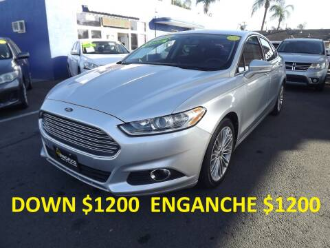 2013 Ford Fusion for sale at PACIFICO AUTO SALES in Santa Ana CA