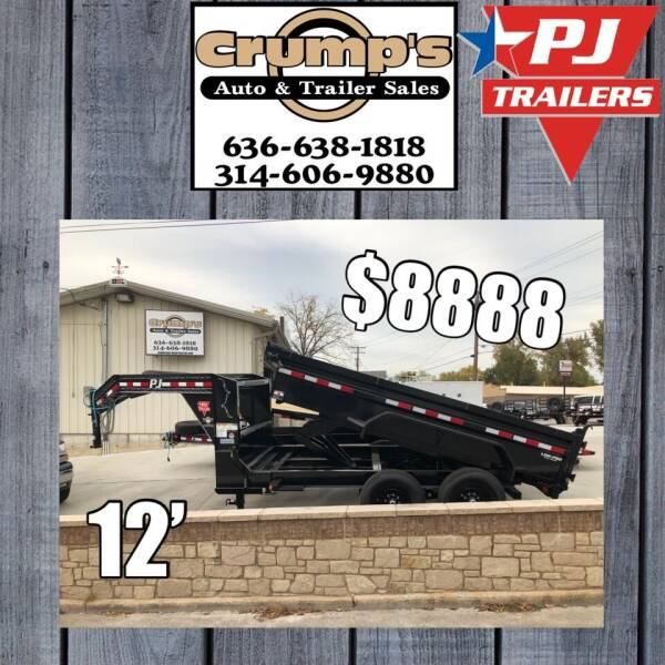 2021 Pj Trailers 12' Gooseneck Dump for sale at CRUMP'S AUTO & TRAILER SALES in Crystal City MO