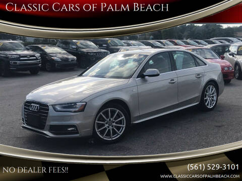 2014 Audi A4 for sale at Classic Cars of Palm Beach in Jupiter FL