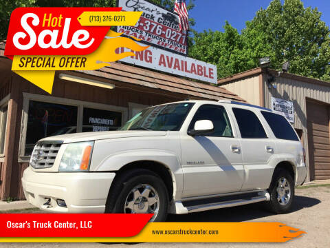 2004 Cadillac Escalade for sale at Oscar's Truck Center, LLC in Houston TX