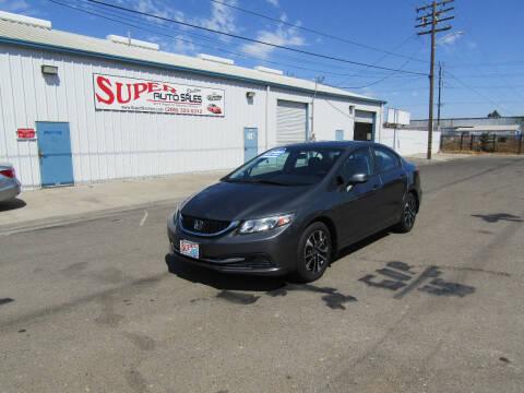 2013 Honda Civic for sale at SUPER AUTO SALES STOCKTON in Stockton CA