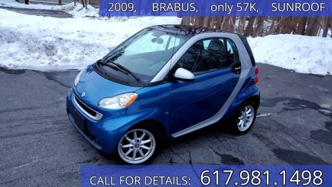 2009 Smart fortwo for sale at Wheeler Dealer Inc. in Acton MA