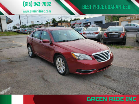 2012 Chrysler 200 for sale at Green Ride Inc in Nashville TN