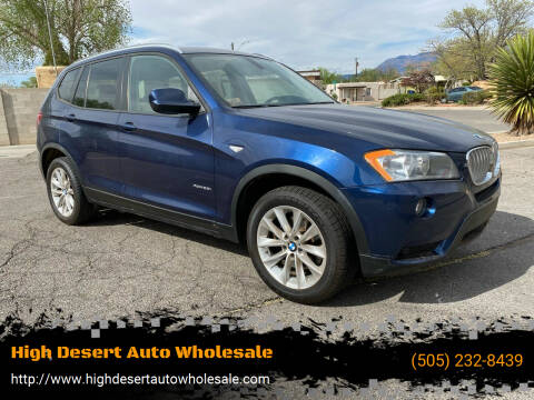 2013 BMW X3 for sale at High Desert Auto Wholesale in Albuquerque NM
