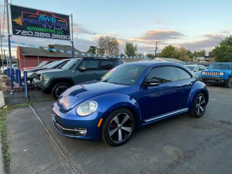 2013 Volkswagen Beetle for sale at AWD Denver Automotive LLC in Englewood CO