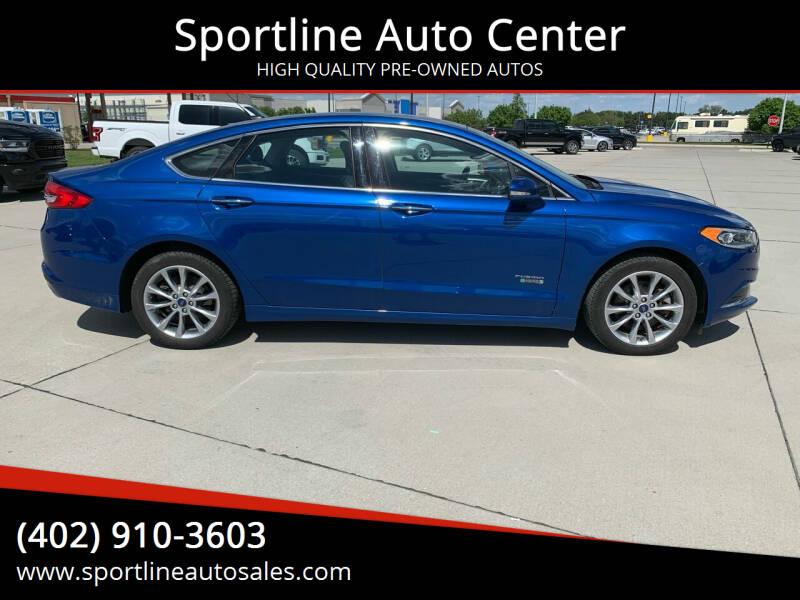 2018 Ford Fusion Energi for sale at Sportline Auto Center in Columbus NE