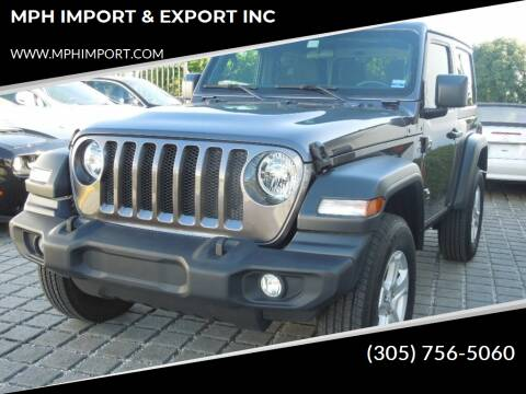 2019 Jeep Wrangler for sale at MPH IMPORT & EXPORT INC in Miami FL