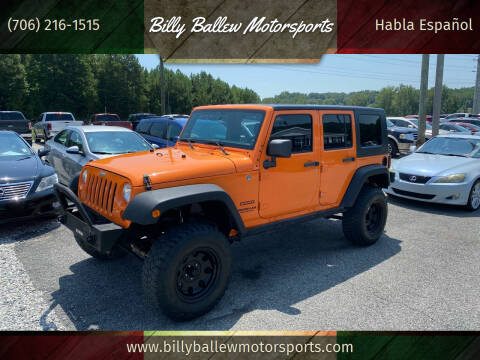 2012 Jeep Wrangler Unlimited for sale at Billy Ballew Motorsports in Dawsonville GA
