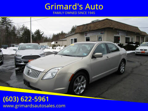 2010 Mercury Milan for sale at Grimard's Auto in Hooksett, NH
