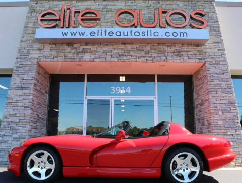 2000 Dodge Viper for sale at Elite Autos LLC in Jonesboro AR