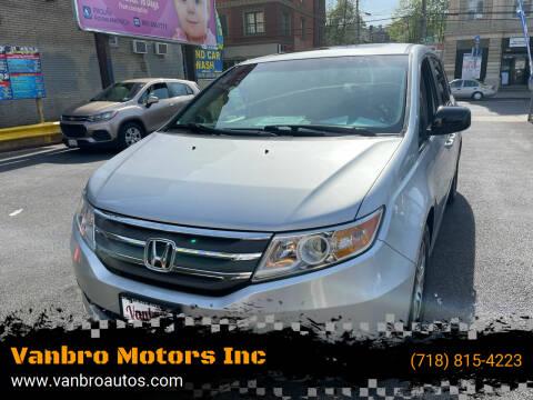 2012 Honda Odyssey for sale at Vanbro Motors Inc in Staten Island NY