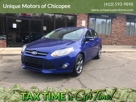 2013 Ford Focus for sale at Unique Motors of Chicopee in Chicopee MA