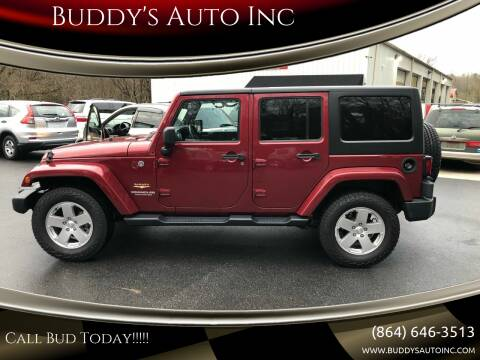 2012 Jeep Wrangler Unlimited for sale at Buddy's Auto Inc in Pendleton SC