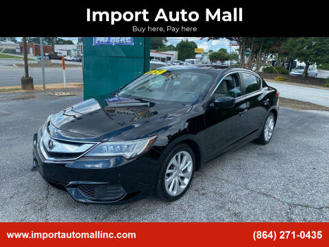 2016 Acura ILX for sale at Import Auto Mall in Greenville SC