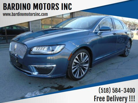 2018 Lincoln MKZ for sale at BARDINO MOTORS INC in Saratoga Springs NY