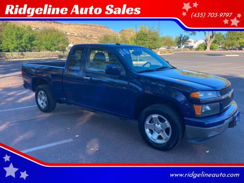 2010 Chevrolet Colorado for sale at Ridgeline Auto Sales in Saint George UT