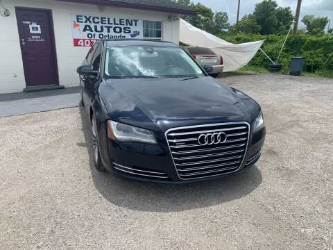 2011 Audi A8 L for sale at Excellent Autos of Orlando in Orlando FL