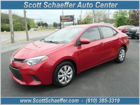 2015 Toyota Corolla for sale at Scott Schaeffer Auto Center in Birdsboro PA