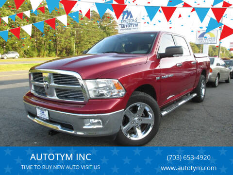 2012 RAM Ram Pickup 1500 for sale at AUTOTYM INC in Fredericksburg VA