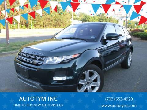 2013 Land Rover Range Rover Evoque for sale at AUTOTYM INC in Fredericksburg VA