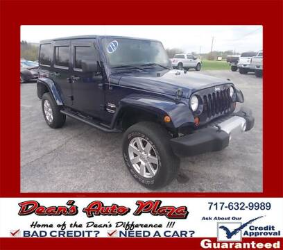 2013 Jeep Wrangler Unlimited for sale at Dean's Auto Plaza in Hanover PA