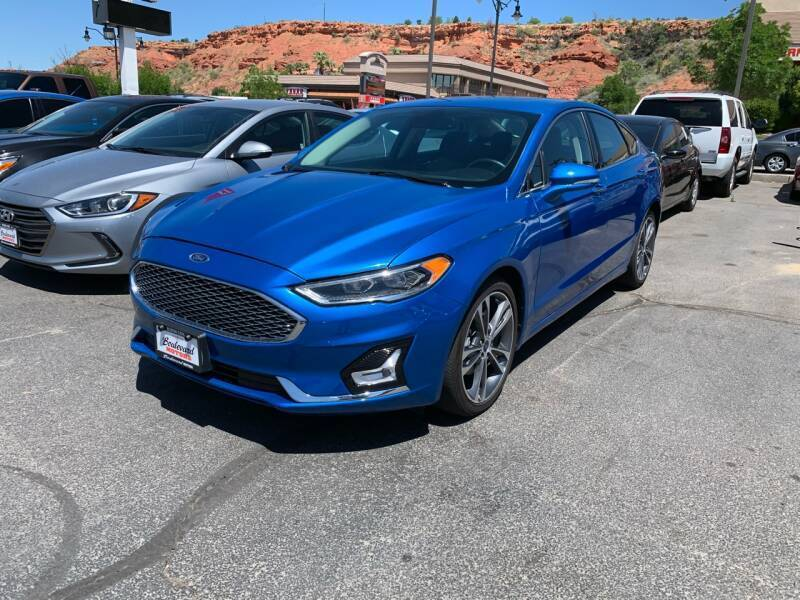 2019 Ford Fusion for sale at Boulevard Motors in St George UT