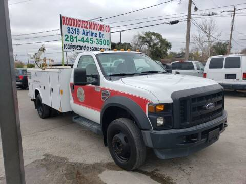 2009 Ford F-550 for sale at RODRIGUEZ MOTORS CO. in Houston TX