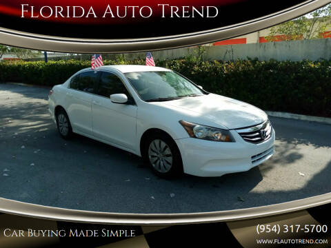 2012 Honda Accord for sale at Florida Auto Trend in Plantation FL