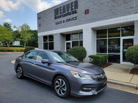 2017 Honda Accord for sale at Weaver Motorsports Inc in Cary NC