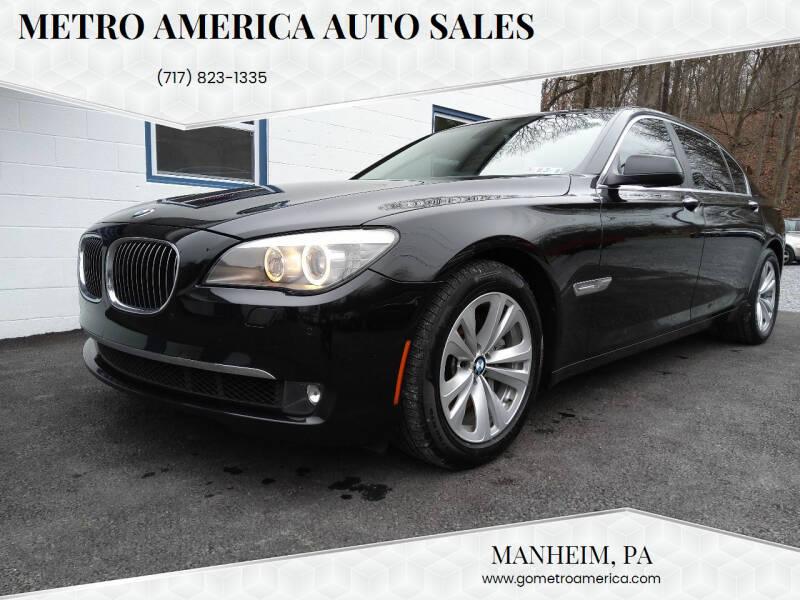 2011 BMW 7 Series for sale at METRO AMERICA AUTO SALES of Manheim in Manheim PA