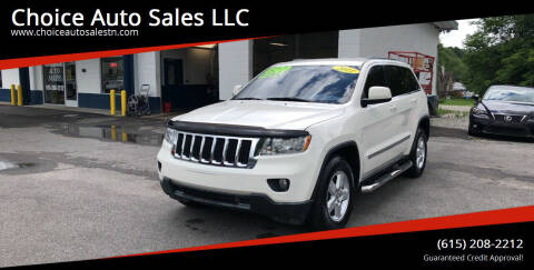 2011 Jeep Grand Cherokee for sale at Choice Auto Sales LLC - Cash Inventory in White House TN