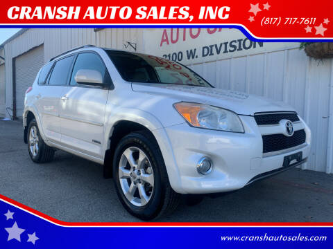 2010 Toyota RAV4 for sale at CRANSH AUTO SALES, INC in Arlington TX