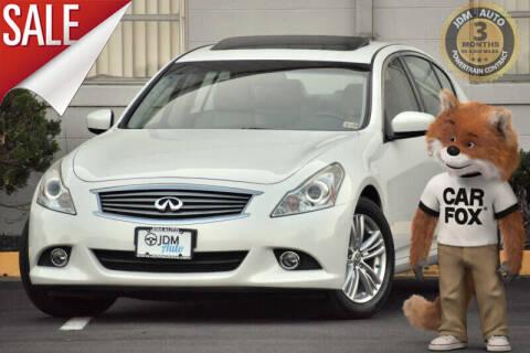 2011 Infiniti G37 Sedan for sale at JDM Auto in Fredericksburg VA