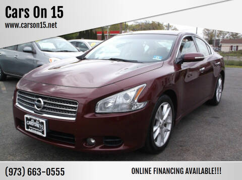 2011 Nissan Maxima for sale at Cars On 15 in Lake Hopatcong NJ