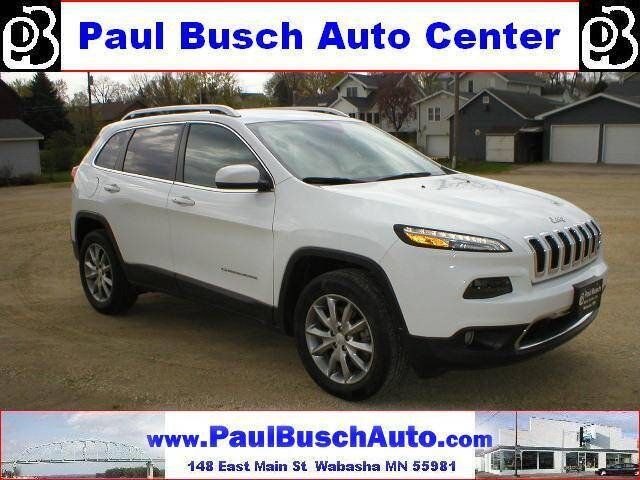 2018 Jeep Cherokee for sale at Paul Busch Auto Center Inc in Wabasha MN