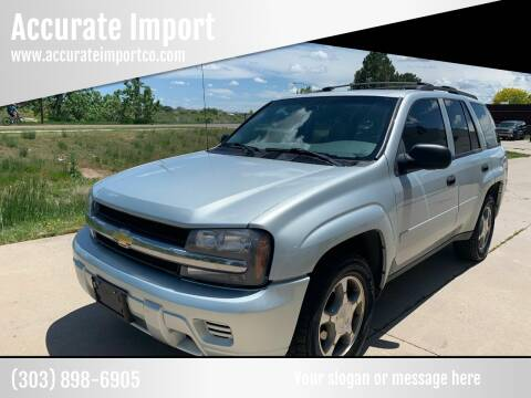 2008 Chevrolet TrailBlazer for sale at Accurate Import in Englewood CO