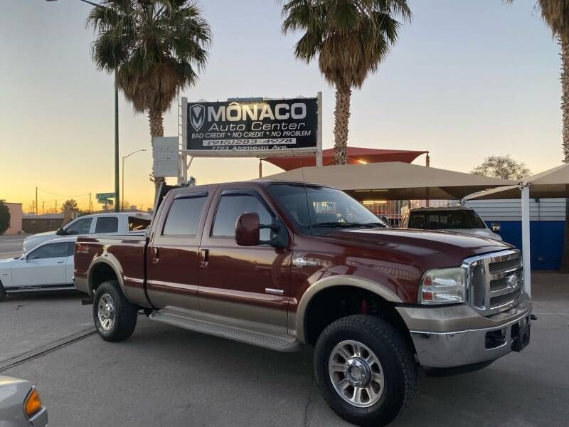 2005 Ford F250 Super Duty for sale at Monaco Auto Center LLC in El Paso TX