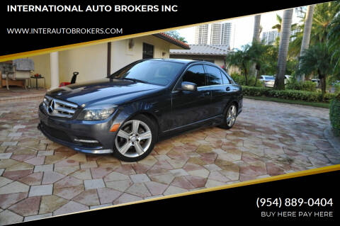 2011 Mercedes-Benz C-Class for sale at INTERNATIONAL AUTO BROKERS INC in Hollywood FL