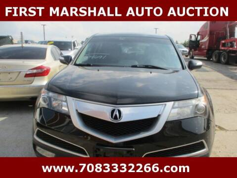 2012 Acura MDX for sale at First Marshall Auto Auction in Harvey IL
