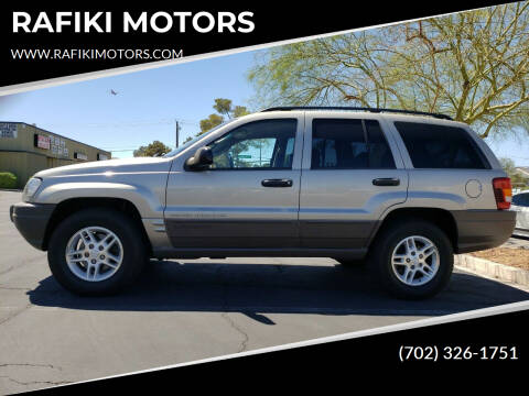 2003 Jeep Grand Cherokee for sale at RAFIKI MOTORS in Henderson NV